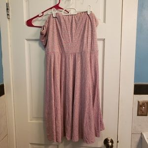 Maurices plus size 3 pink and grey tube dress